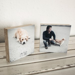 cuadritos de madera con fotos
