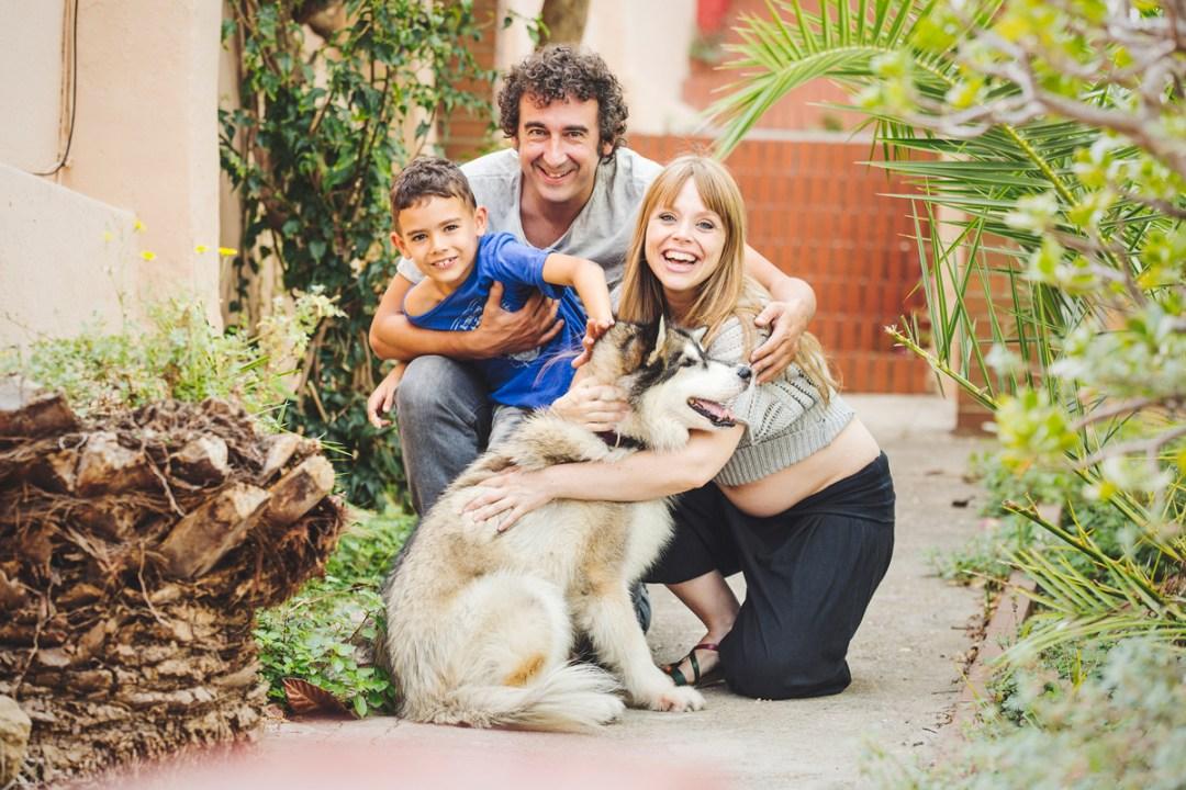 familia con husky