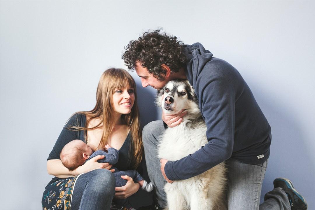 husky & newborn session