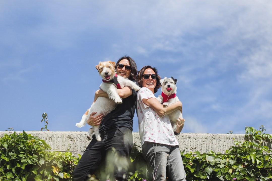 afortunadogs, jack russell retrato con su familia