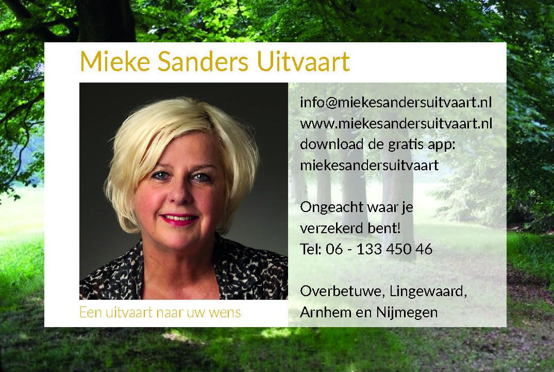 Mieke Sanders Uitvaart