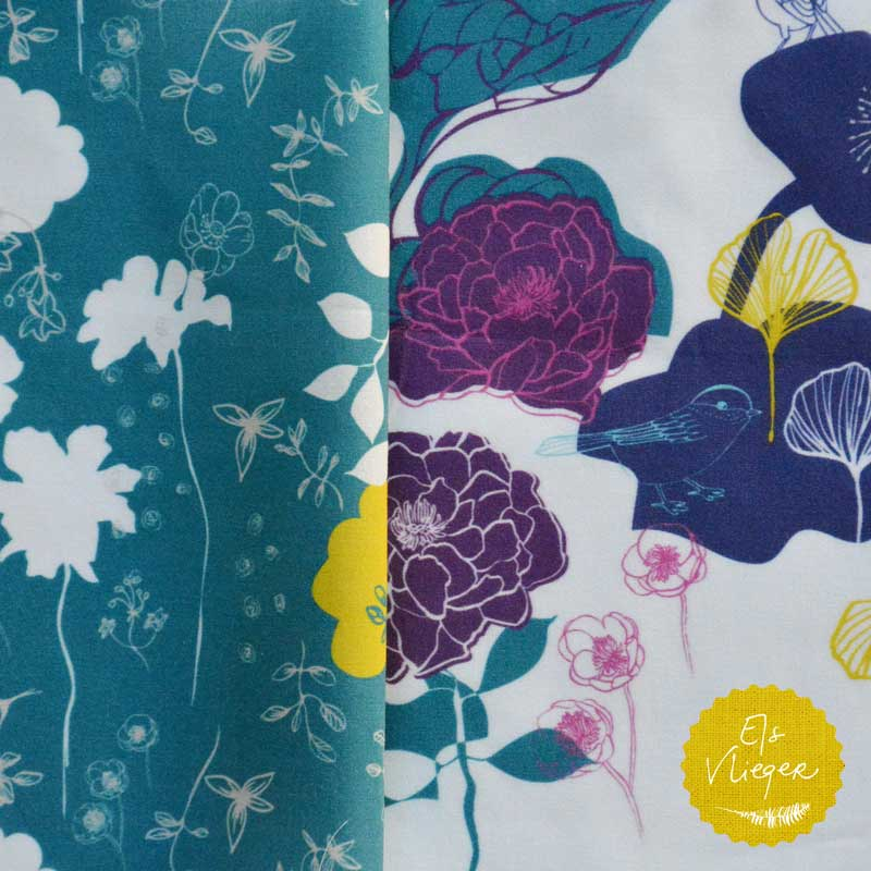 Chinoiserie Chic, peonies, roses and birds fabrics by Els Vlieger