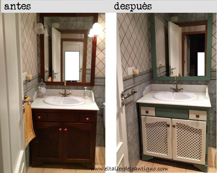Pintar mueble de baño - **El Taller de lo Antiguo