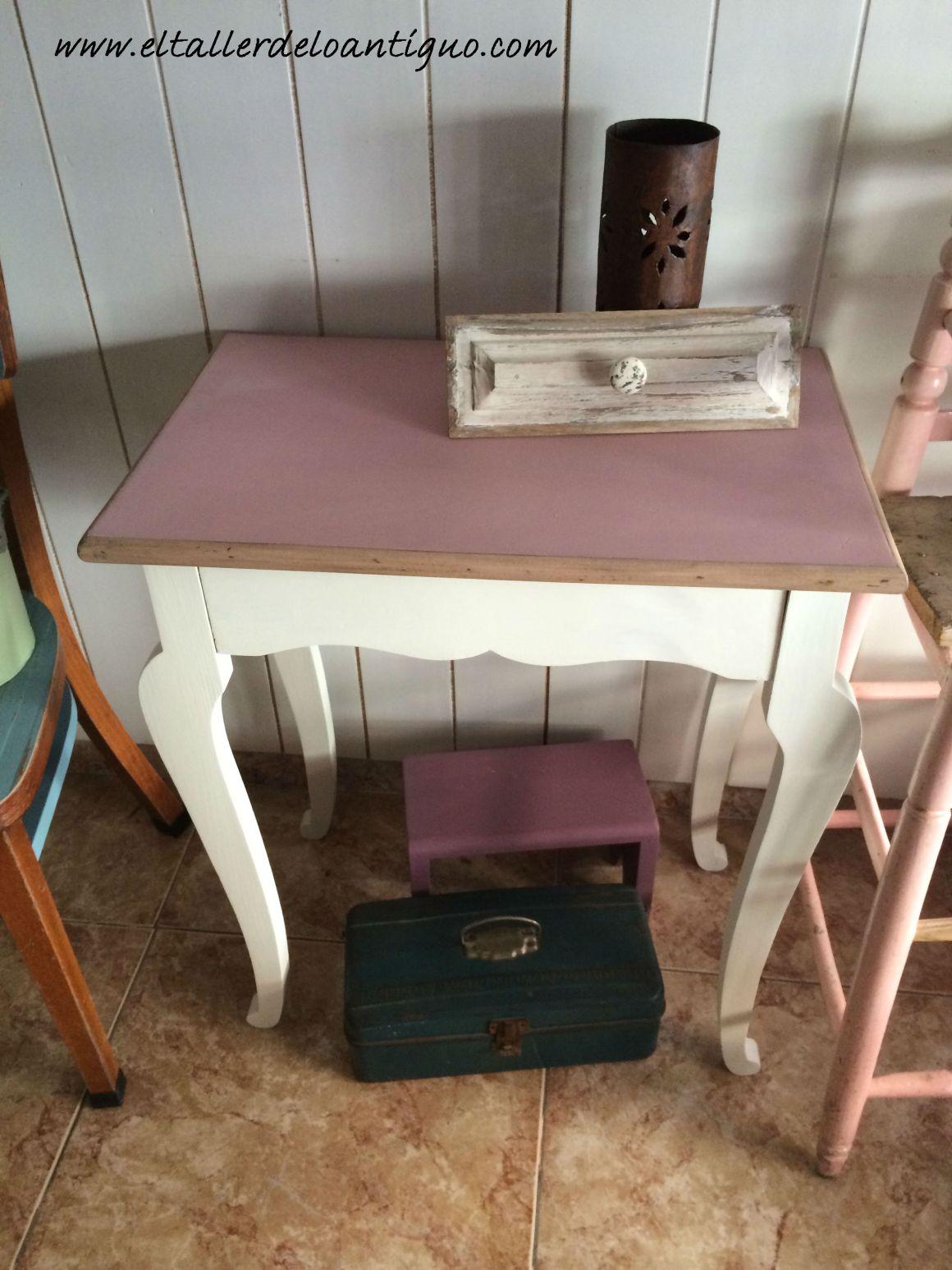 Diy pintar mesita auxiliar el taller de lo antiguo for Como pintar una mesa de madera