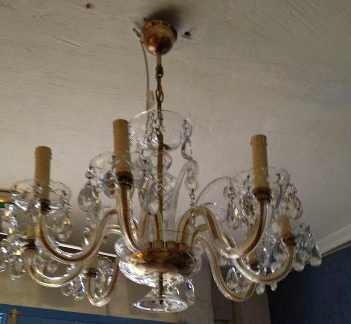 Restacamos una ara a de cristal el taller de lo antiguo - Limpiar lamparas de cristal ...