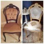 Doramos una silla con Papel de oro