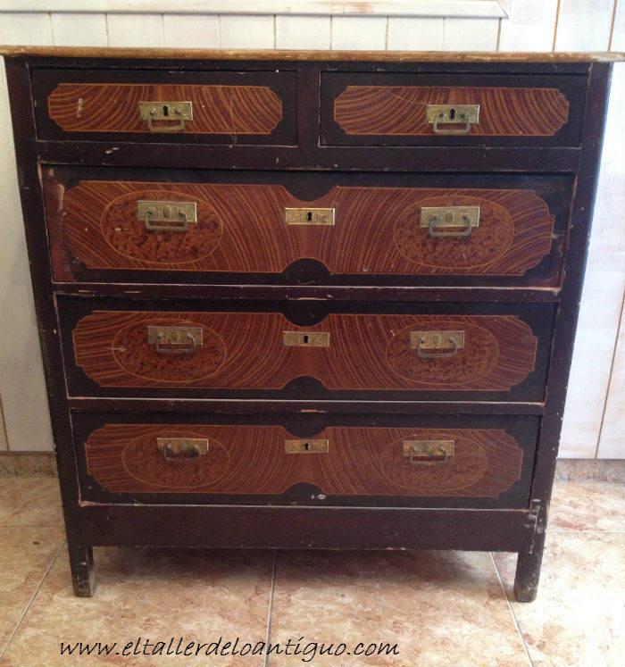 Transformaci n de una c moda del siglo xix el taller de lo antiguo - Muebles el siglo ...