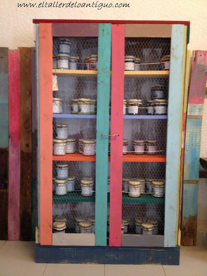 Alacena con palets el taller de lo antiguo - Muebles de derribo ...