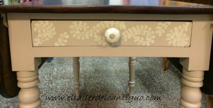 Pintar una mesa de caoba con elegancia el taller de - Como pintar una mesa de madera ...