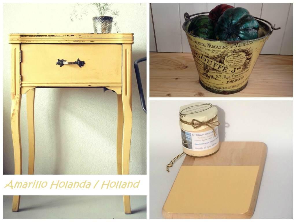 Pintar muebles de color amarillo el taller de lo antiguo - Muebles naturales para pintar ...