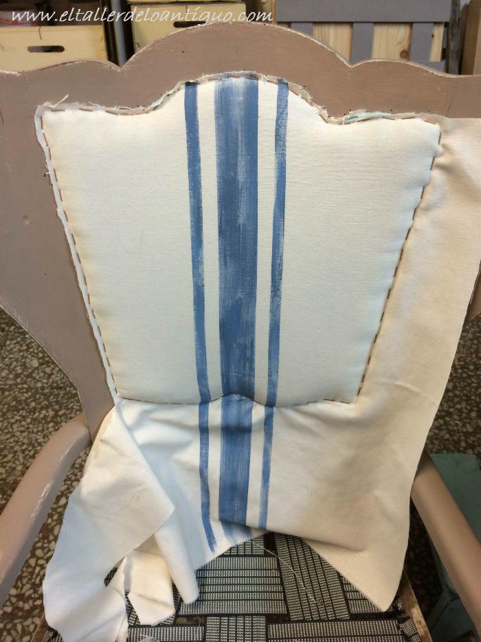 Como tapizar un respaldo de silla el taller de lo antiguo - Como tapizar una silla con respaldo ...