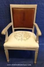 Pintamos un sillón inglés