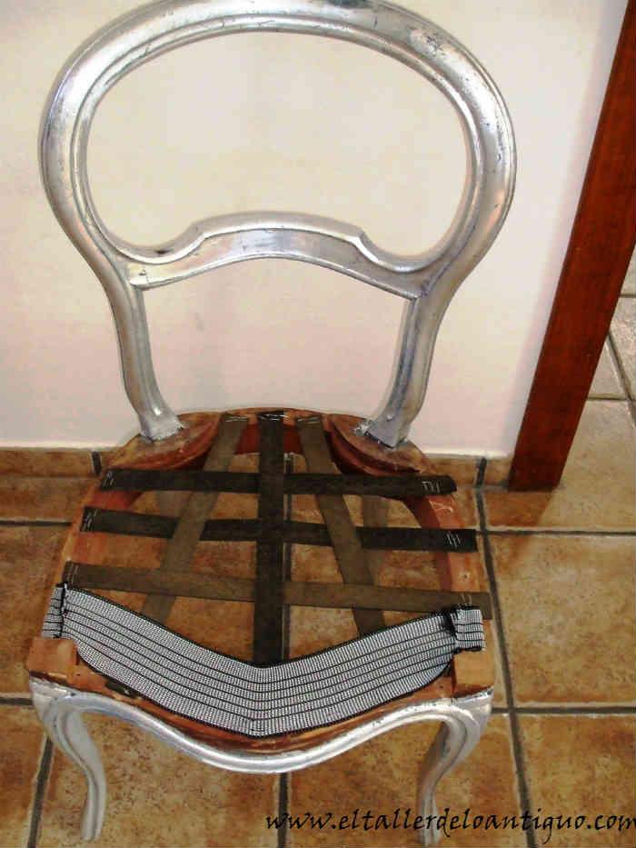 Como tapizar una silla el taller de lo antiguo - Como tapizar una banqueta ...