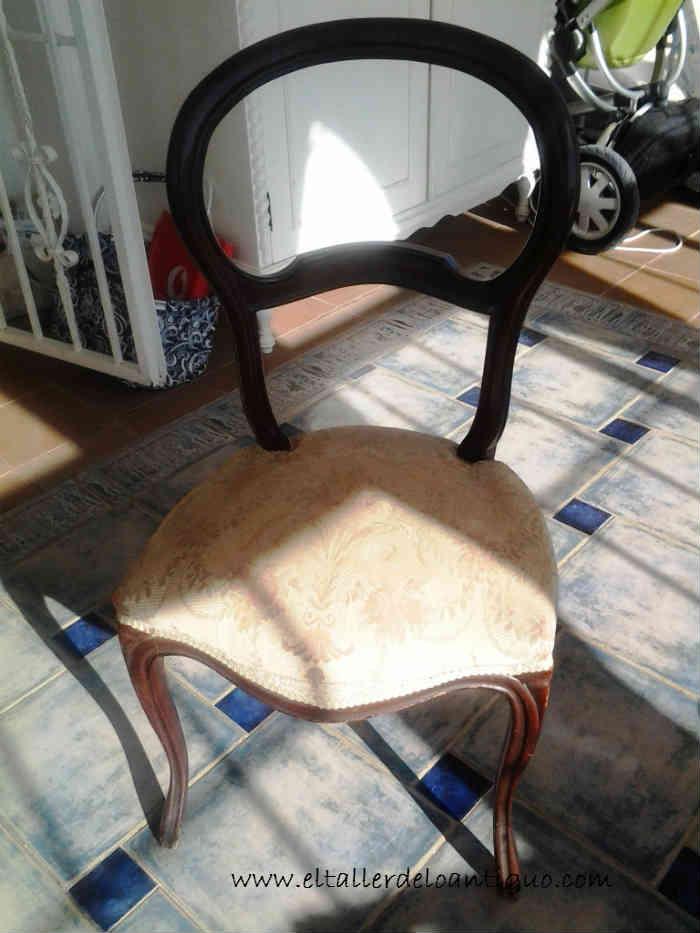 pintamos una silla de azul