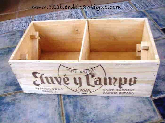 Reciclar cajas de vino el taller de lo antiguo reciclar cajas de vino - Cajas madera para manualidades ...