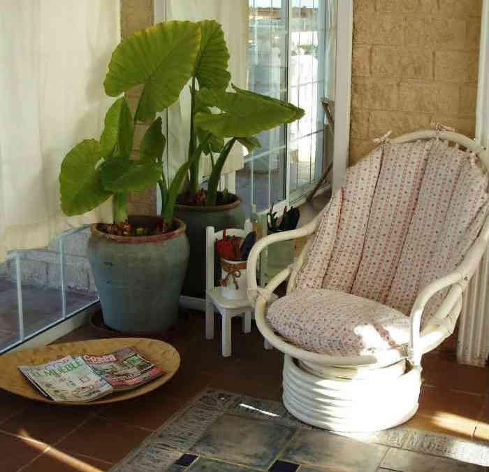 Restauramos un sillón de mimbre