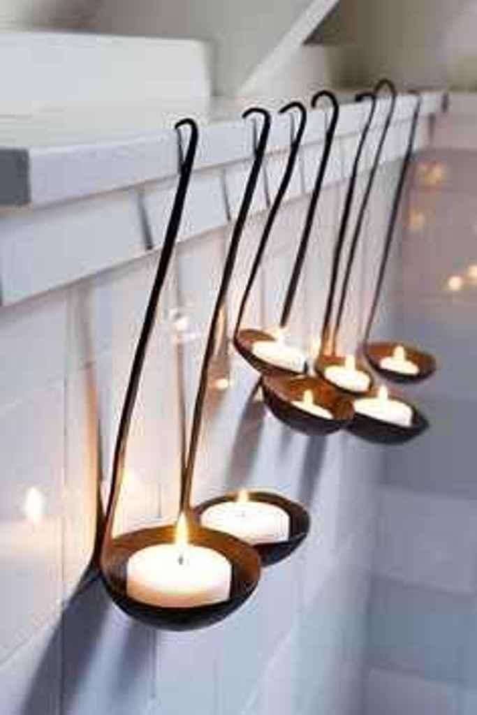 decora con velas y cazos