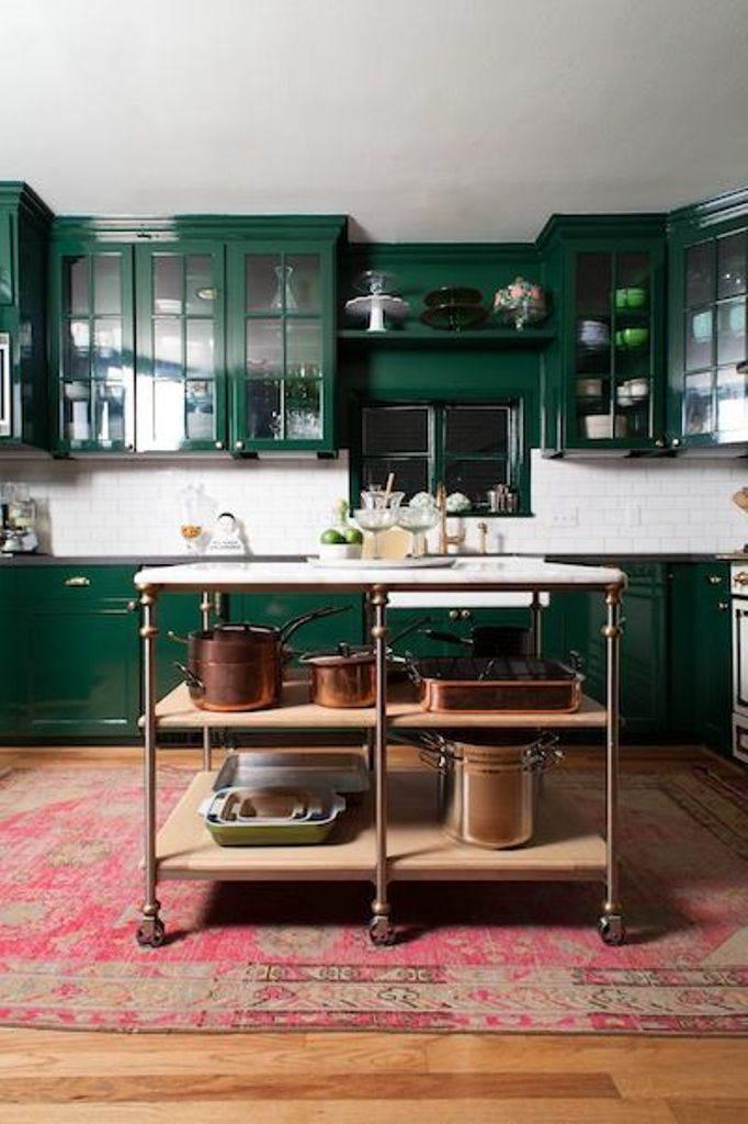 pintar cocina verde bosque
