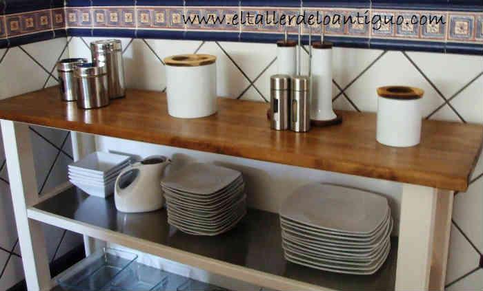 Pintar madera cocina ikea el taller de lo antiguo for Pintar encimera cocina