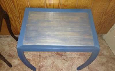Pintar Mesa azul Art Decó