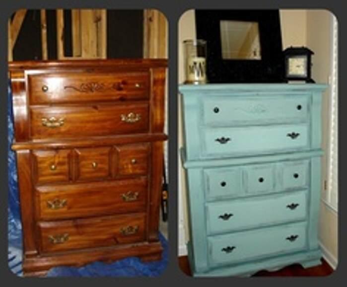 Muebles pintados en gris interesting antes y ahora de dos - Muebles de mimbre pintados ...