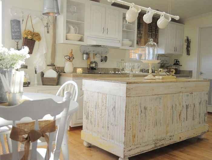 Shabby chic white blanco el taller de lo antiguo - Cocinas estilo shabby chic ...