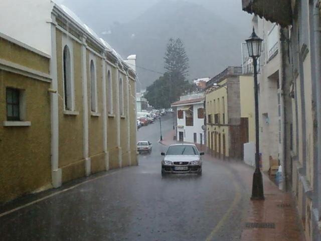 Lluvias en un municipio de La Gomera