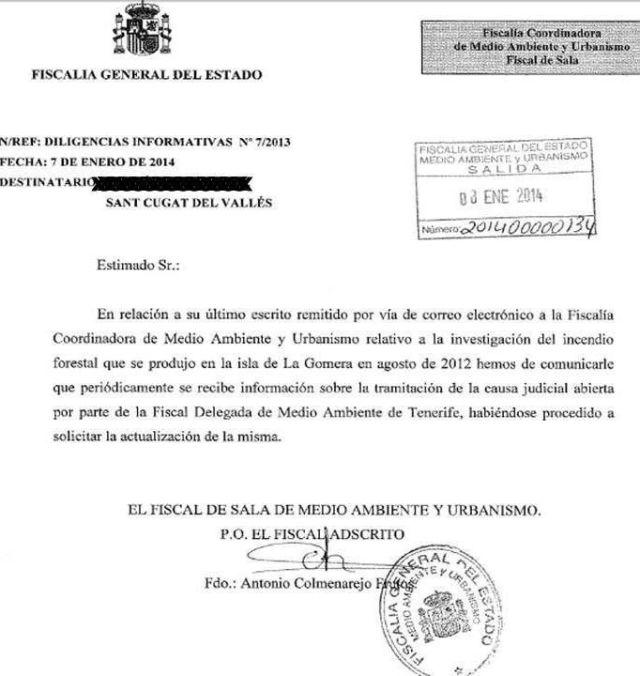 ESCRITO FISCALIA SOBRE DENUNCIA DE LGSM