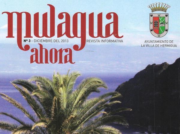 Portada del folleto repartido por el Ayuntamiento de Hermigua