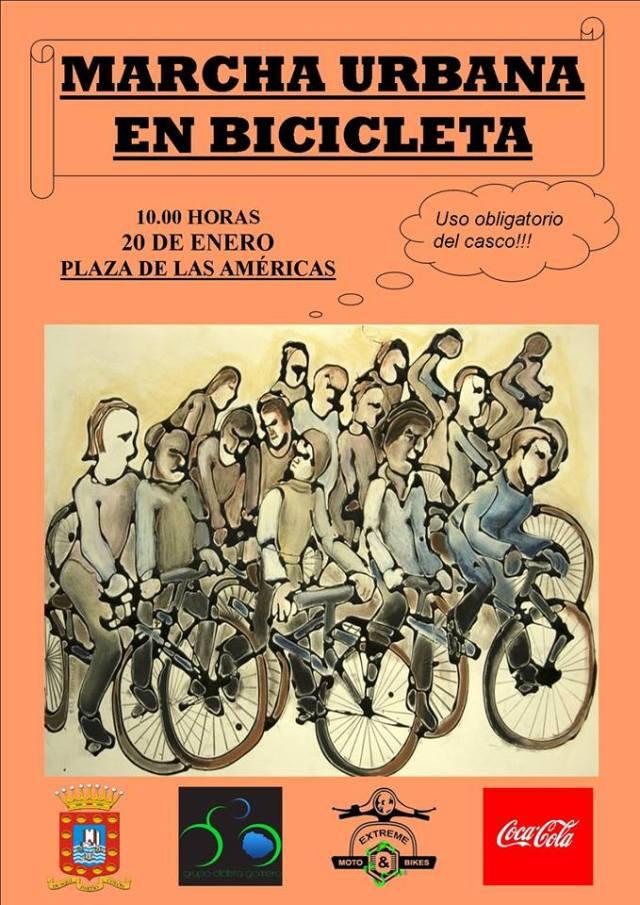 Marcha urbana en bicicleta en San Sebastian de La Gomera