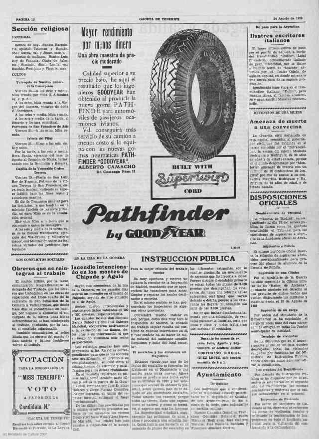 LA GACETA 23 AGOSTO DE 1933