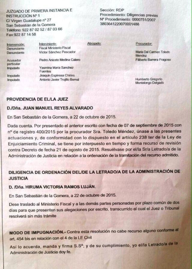 diligencia judicial contra javier trujillo
