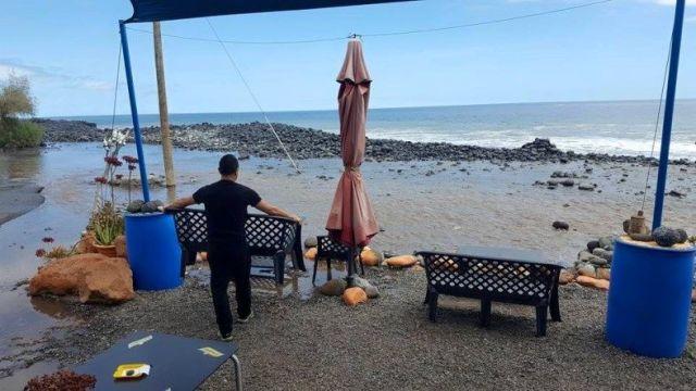 el mar en playa de santiago