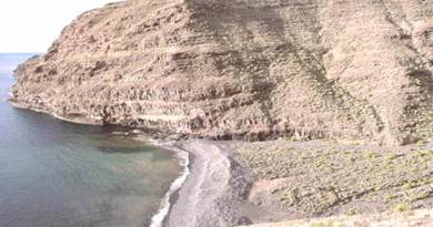 La playa de La Negra en el municipio de Alajeró, en la costa sur de La Gomera