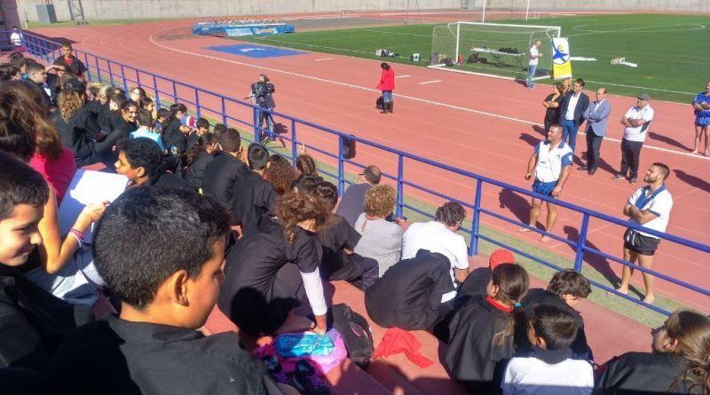 Un total de 87 escolares de La Gomera conoce la lucha canaria a través de un programa del Gobierno de Canarias