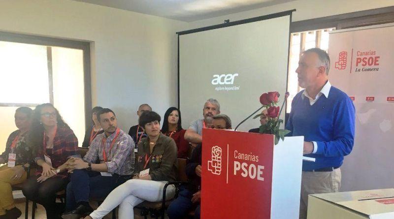 La dirección del PSOE Canarias apoya en La Gomera al secretario insular Ángel Fariña y su nuevo equipo