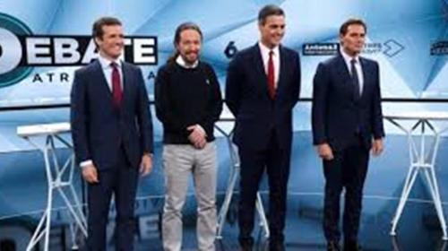 Casado y Rivera embarran el segundo debate en el que solo Iglesias logra exponer su programa