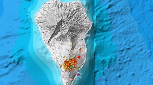 Registrado un terremoto de magnitud 4,8 en La Palma que se ha sentido también en varias islas