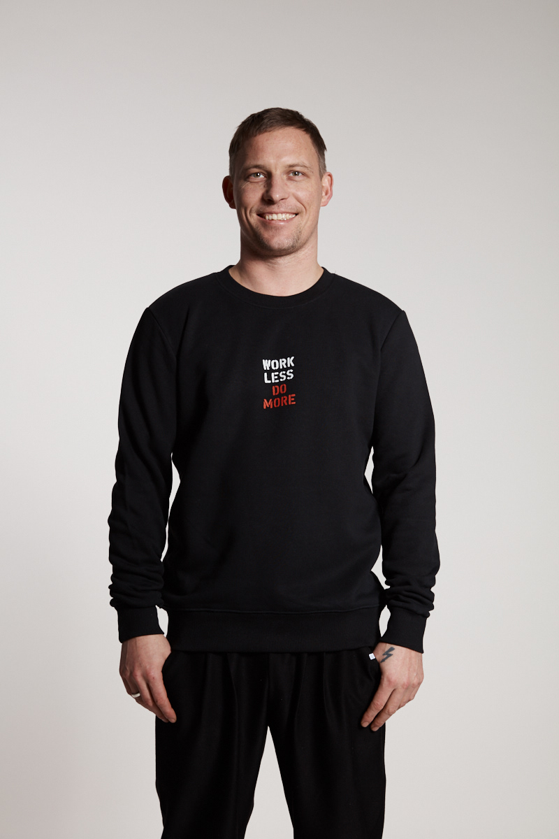 work less do more - Sweater Elternhaus