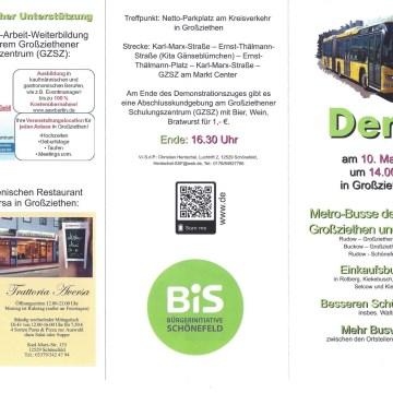 Demo für bessere Busverbindungen in Großziethen