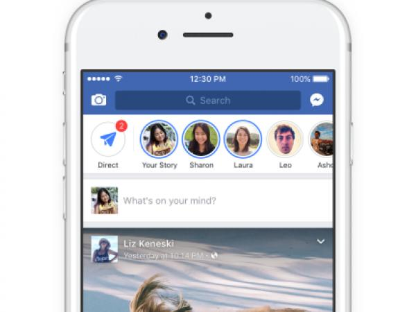 Facebook añade función de 'historias'.
