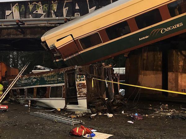 Descarrilamiento de tren en Washington