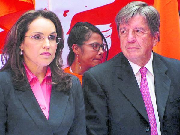 Viviane Morales y Jorge Leyva Durán