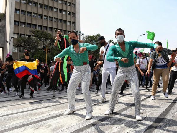 Protesta de bailarines de salsa