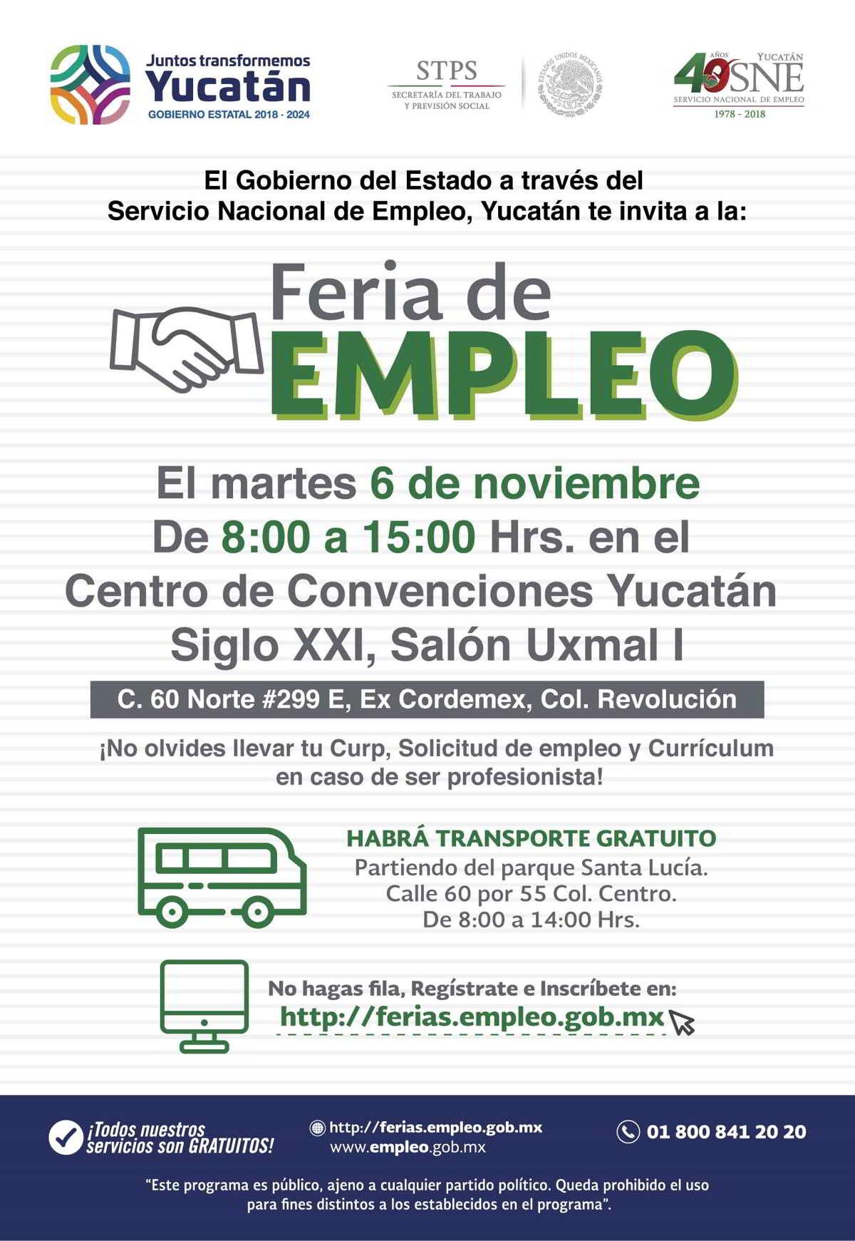 Ofrecerán más de mil oportunidades de trabajo en Feria de Empleo 2018