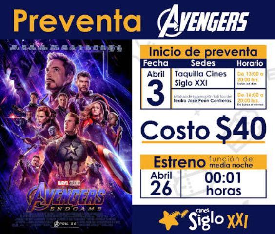 Anuncia Cultur estreno de Avengers
