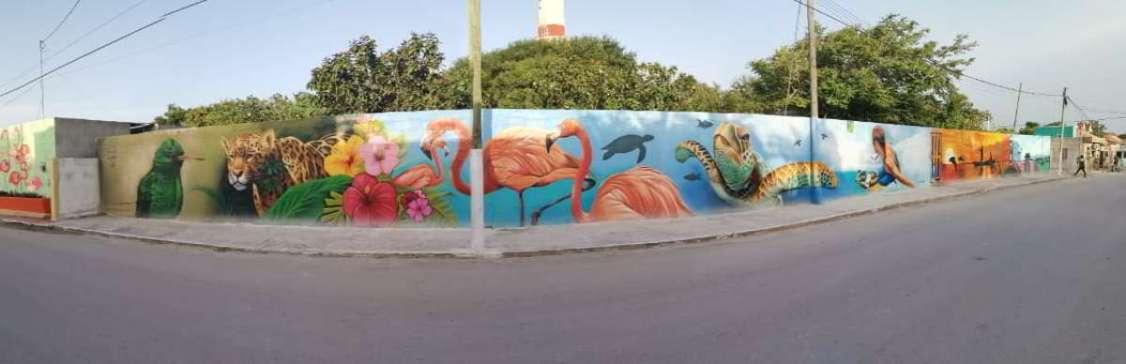 El Cuyo ofrece nuevo mural turístico
