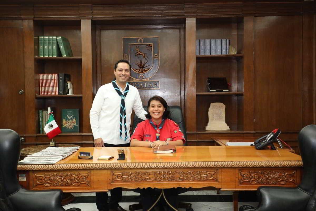 Gobernadora por un Día una joven scout