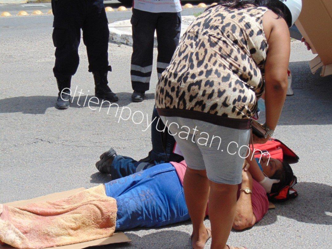 Motociclista lesionada en choque en la calle 86 con 31