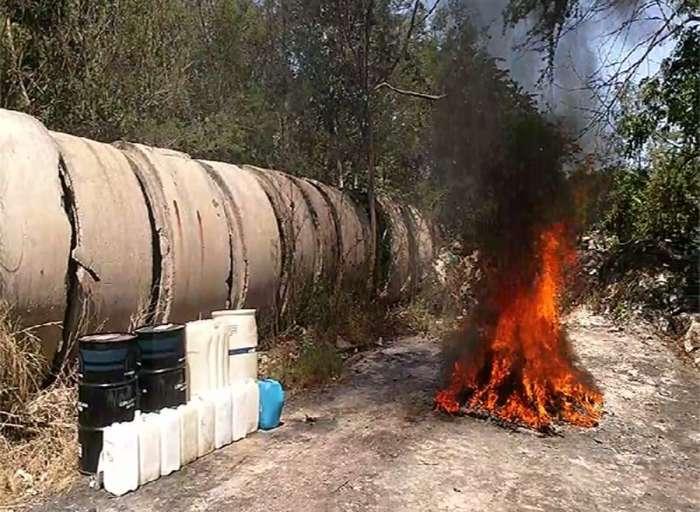 FGR incinera narcóticos en Yucatán